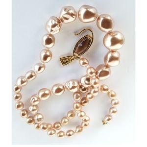 Vintage  YSL  baroque faux pearl  necklace
